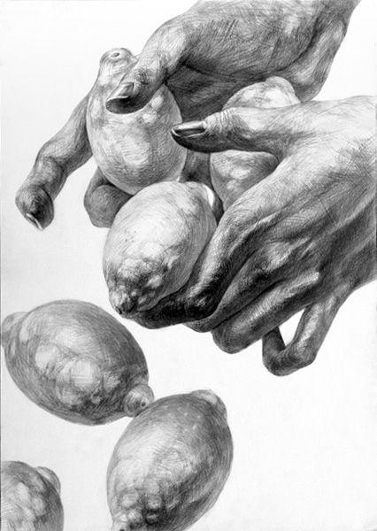 Zitronen und Hände zeichnen