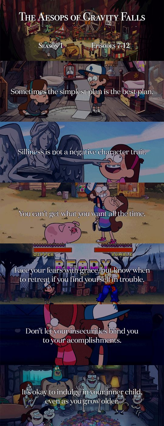 Aesops of Gravity Falls 7-12