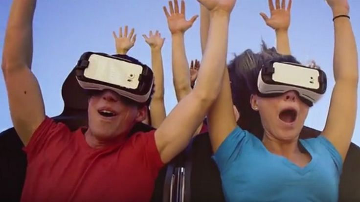 The theme park company partners with Samsung to debut what they say will be North America's first VR roller coasters.