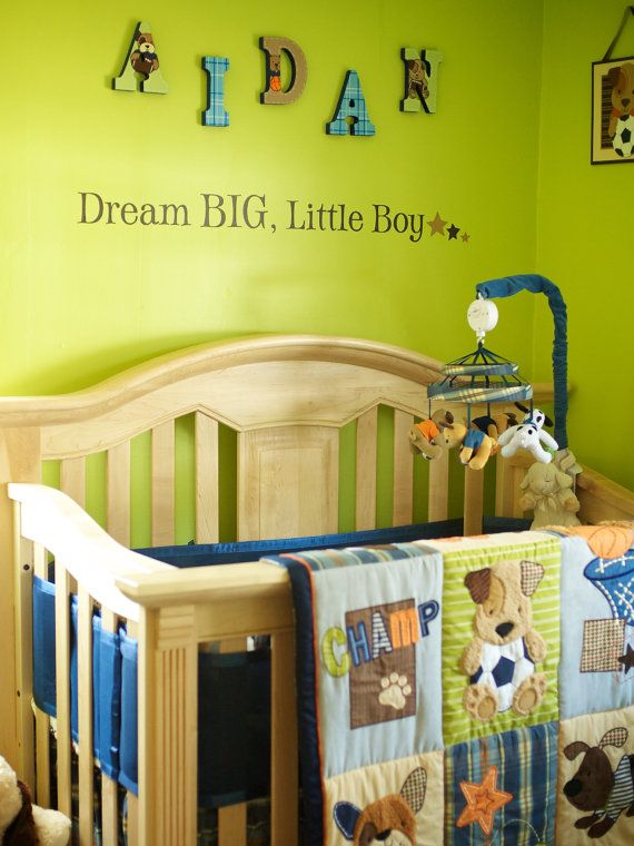 Funky Blue And Brown Nursery Wall Decor Inspiration - Wall Art ...