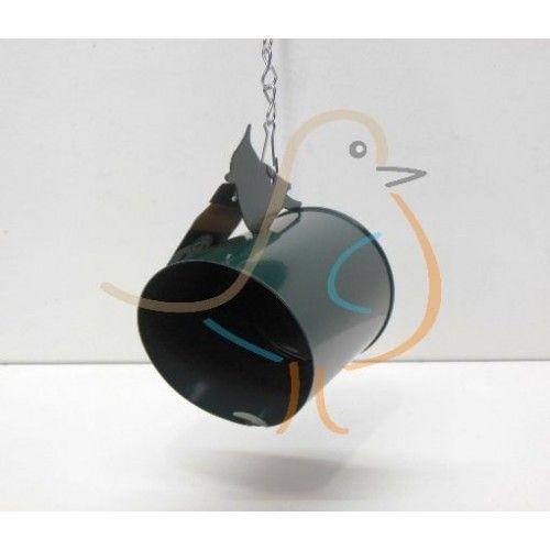 Kado-artikelen, gifts : Metalen vogelpindakaaspothouder