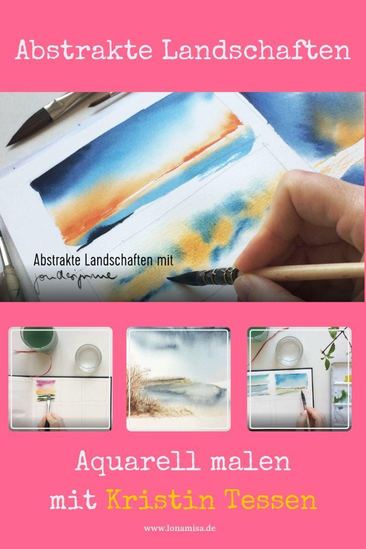 Abstrakte Landschaften Malen Onlinekurs Kopf Aus Und Farbe An