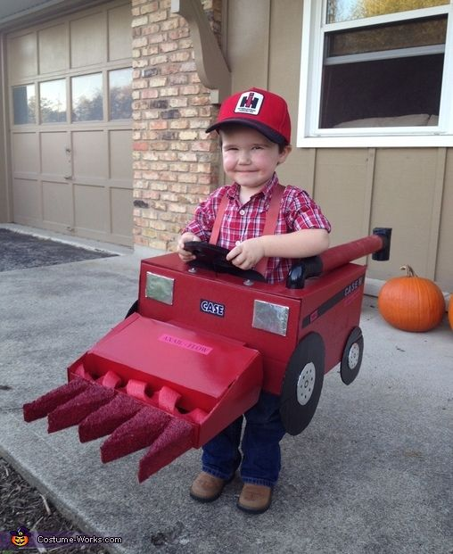 Emily: When asked what he wanted to be for trick or treat, Nolan Moore whome is 2 years old responded with a combine with a corn head. Nolan's uncle Greg is...