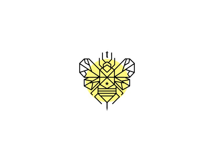 Line icon logo design insect