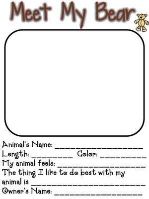 Describing teddy bears for teddy bear day from fun in first grade