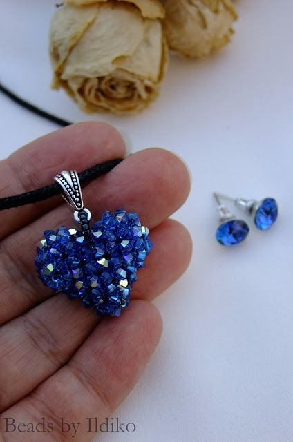 Beads by Ildiko: Newest swarovski heart pendant