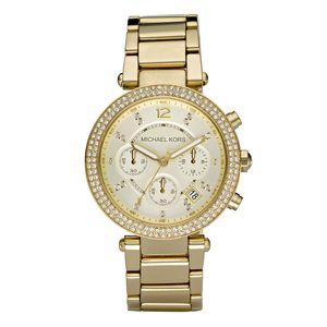 Michael Kors Parker Gold Tone Chronograph Ladies Watch