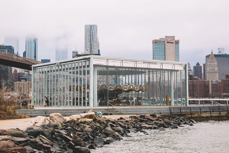 """Jane's Carousel: """"This location is so dreamy. The carousel is in a bigger-than-life glass enclosure that is simply stunning."""" -Kate Edwards #Brooklyn #DUMBO #LoveMyCity Photograph by Kate Edwards"""