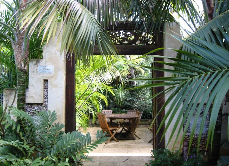 Want to add a potted palm or two in the courtyard.