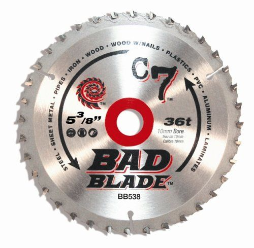Kwiktool Usa Bb538 C7 Bad Blade 5 3 8 Inch 36 Tooth With 10mm Arbor Blade Metal Working