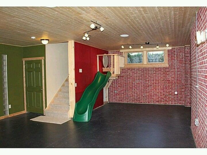 indoor slide for the playroom entrance one day house