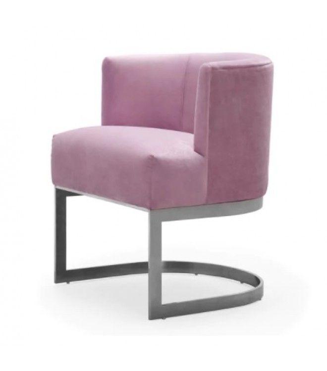 Best Blush Violet Velvet Salon Accent Chair With Images 400 x 300
