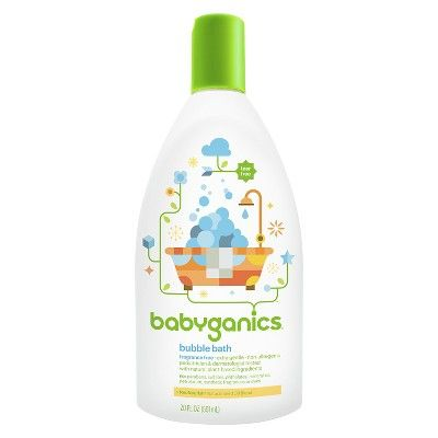 Babyganics Baby Bubble Bath Fragrance Free 20oz Bottle Bubble