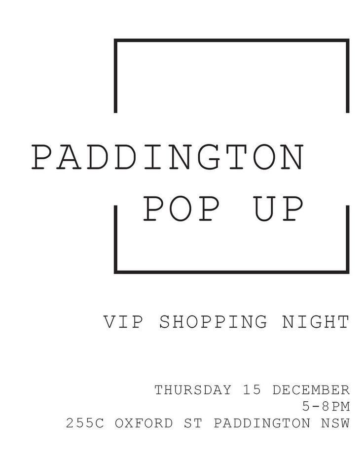 Check off your last minute Christmas presents at our VIP shopping night at the Paddington Pop Up! We are having 20% off store wide across all @zakkiahomewares @atolyia and @inartisan products. Enjoy some champagne while you browse and don't forget to grab a gift bag on the way out - we don't want anyone leaving empty handed!
