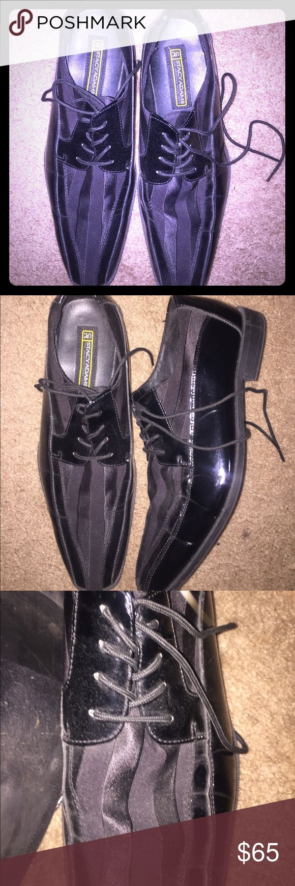 New! Spankin new men's dress shoes perfect dress *hot!*brand new mens dress shoes! Leather and felt material perfect for any dress occasion Stacy Adams Shoes Oxfords & Derbys
