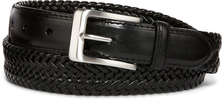 STAFFORD Stafford Leather Braided Belt