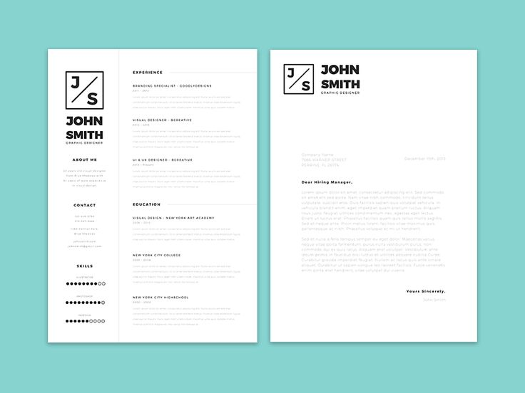 Minimalistic Resume Template + Cover Letter Template Giveaway! by Kamil Olszak
