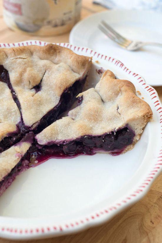 Fresh Blueberry Pie - a step-by-step berry pie baking tutorial!