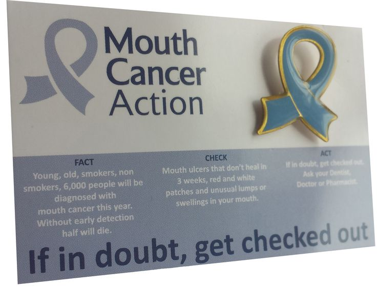 We are urging all staff at your dental practice, hospital or pharmacy to wear a Blue Ribbon Badge and support mouth cancer awareness as a team. The badges are a great way to initiate a conversation with your patients about mouth cancer, educating them around the risk factors and early warning signs. www.mouthcancer.o... #MouthCancerActionMonth #MCAM #BlueRibbonBadge