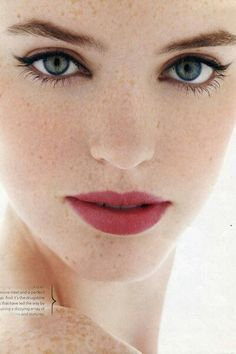wedding makeup for freckles - Google Search