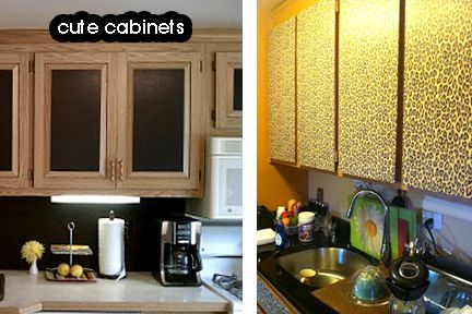 Cabinets With Contact Paper On Front Could Be Cute Contact Paper 3
