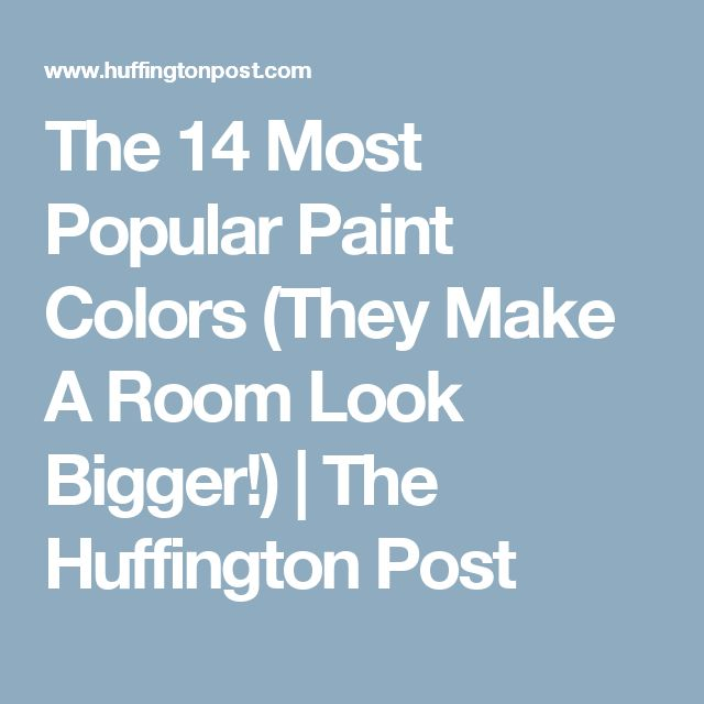 Best Paint Color To Make Room Look Bigger