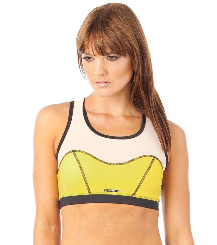She's A Goddess Mesh Crop - Yellow www.lurv.com.au #lurvsportswear #lurvlife