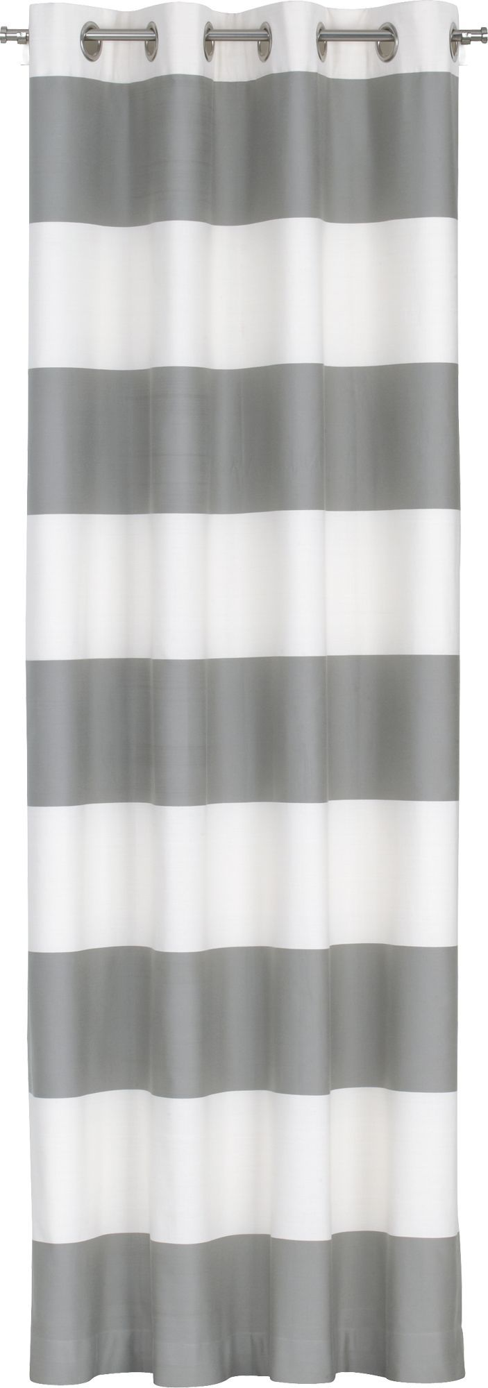 Alston Ivory/Grey Curtain Panel in Curtains | Crate and Barrel