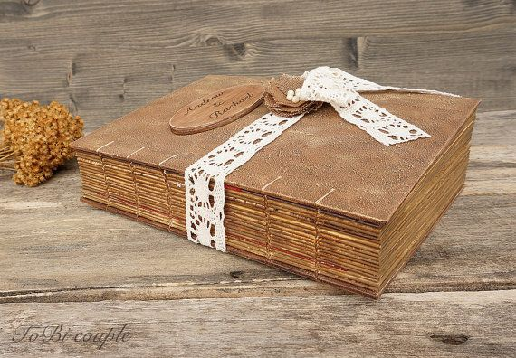 Rustic Wedding Guest Book Rustic Photo album by ToBicouple on Etsy