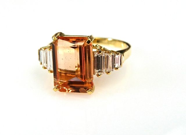 Birks Imperial Topaz and Diamond Ring