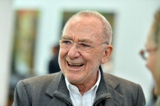Der Künstler Gerhard Richter am Freitag im Museum Frieder Burda in Baden-Baden bei einer Feierstunde zum zehnjährigen Jubiläum des Museums (...