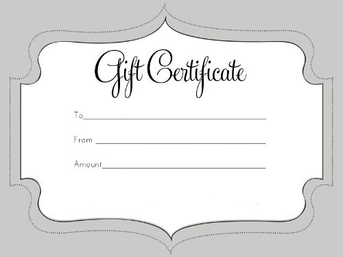 30 Best Gift Certificates Images On Pinterest Gift Cards Gift
