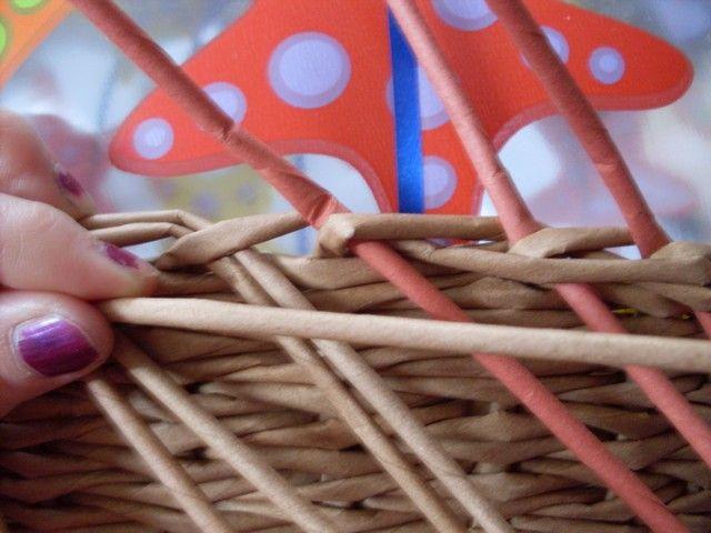Moje pletení z papíru - Fotoalbum - NÁVOD - NA UZAVÍRKY - NÁVOD - NA TŘÍPÁROVOU UZAVÍRKU 23