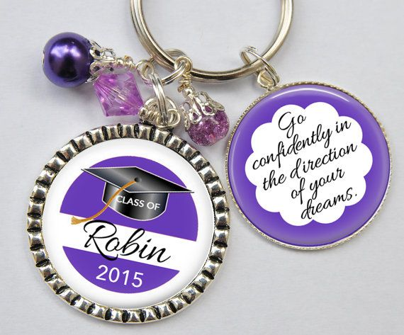 class of 2015 graduation keychain personalized with name by kcowie