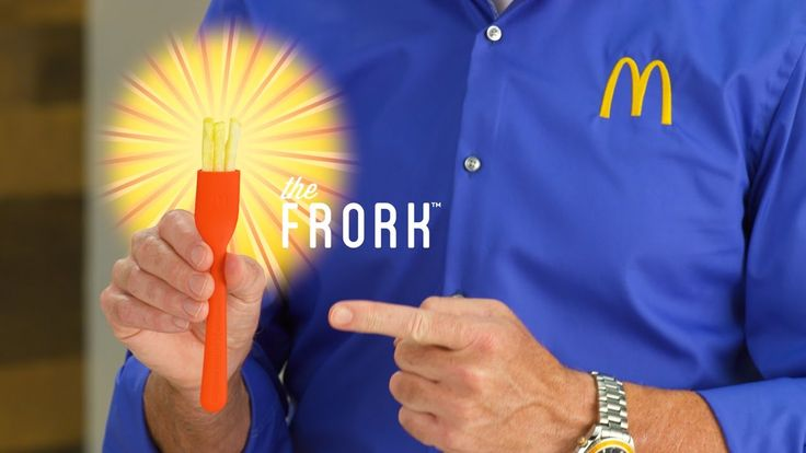 Anthony Sullivan Introduces the McDonald's Frork, A Plastic Utensil That Uses French Fries as Fork Tines