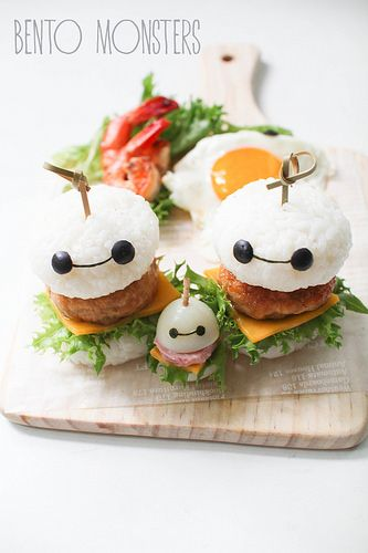 Bento, Monsters: Baymax Burger & Sushi