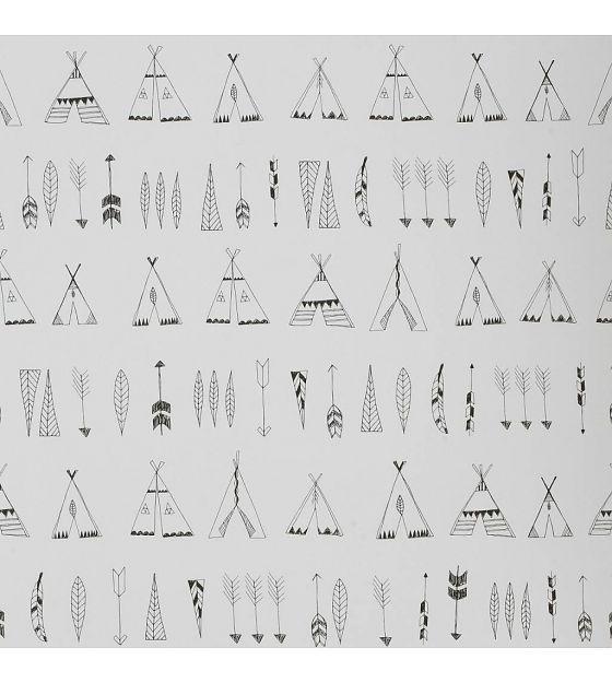 Ferm Living Behang Native zwart-wit papier 53x1000cm - wonenmetlef.nl