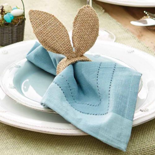 Burlap Bunny Napkin Rings $15.00 http://www.fancyflours.com/product/burlap-bunny-ears-napkin-rings/easter-party-theme