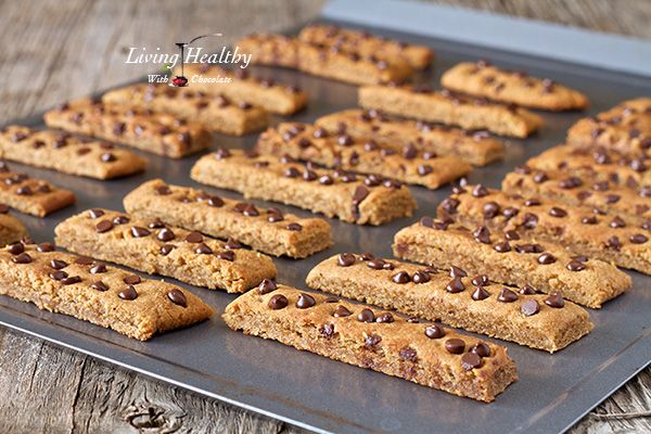 Chocolate Chip Cookie Sticks (gluten, grain, dairy free, paleo) - Living Healthy With Chocolate | Living Healthy With Chocolate