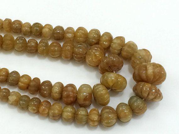 Yellow Sapphire Pumpkin Beads Yellow Sapphire by gemsforjewels