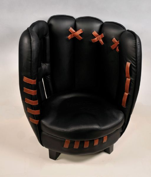 Budweiser Leather Baseball Glove Chair Produced For The