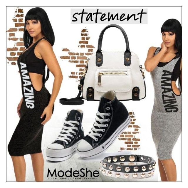 ModeShe #43 by whirlypath on Polyvore featuring Converse