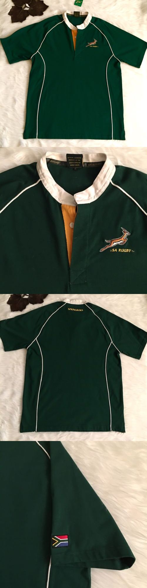 Rugby 21563: Men S Sa Rugby Xl South Africa Springboks Home Official Polo Jersey Shirt Ss Nwt -> BUY IT NOW ONLY: $44.95 on eBay!