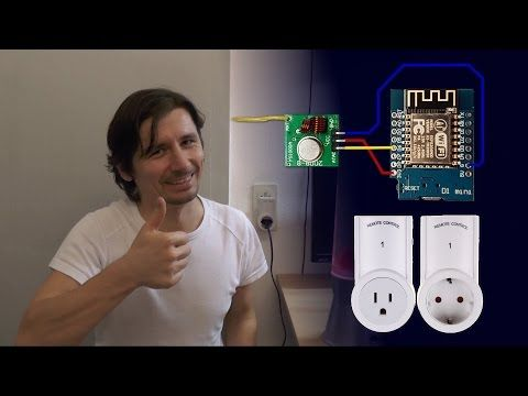 Remote power outlet home automation tutorial ESP8266 - YouTube