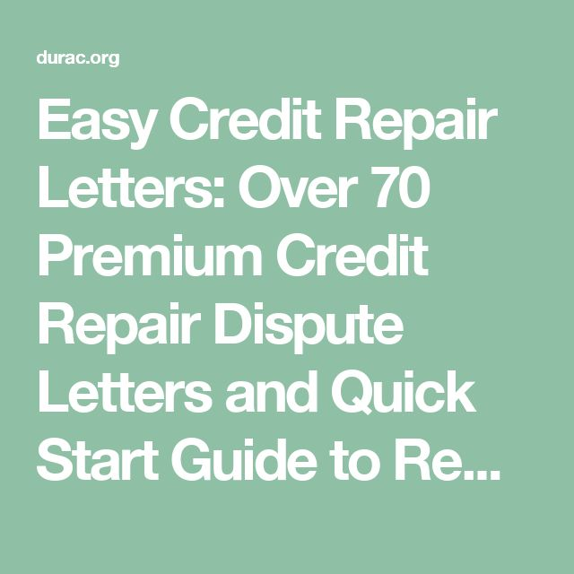 Easy credit repair letters over 70 premium credit repair for Letters to fix credit