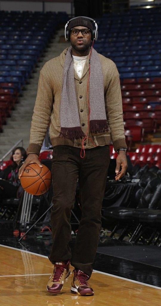 "LeBron James wearing the Nike LeBron 9 ""Christ the King"" PE"