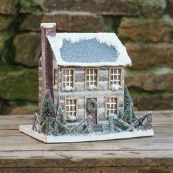 Cardboard Cabin House | Glitter Christmas Log Cabin | Ragon House
