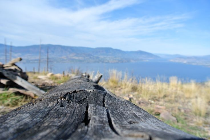 From the Kelowna Crags summit.  Park at Cedar Creek regional park and follow the only trail towards the cliff face.  A trail leads to the summit and spectacular views.  Bring good foot wear! www.kelownainnandsuites.com/