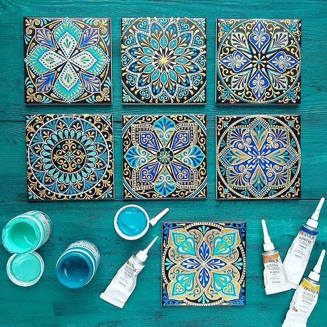 Blue colour is always a good choice! ❤ 💫🌸 Beautiful decor tiles by ❤ @a.nureeva #repost #mydrobby #onlineshopping #onlinebutik
