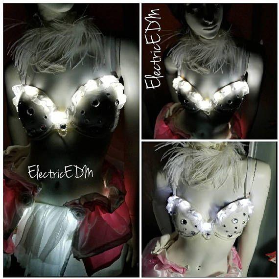Check out this item in my Etsy shop https://www.etsy.com/listing/578994064/led-32dd-rhinestone-polkadot-rave-bra
